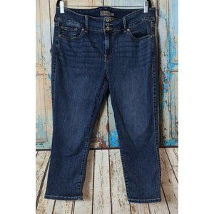 Torrid Feel the Fit Womens Size 14 Blue Super Soft Crop Mid Rise Jegging Jeans